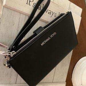 New Mk Jet set LG double zipper wallet/ phone